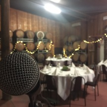 Set up at Monichino Wines for a private event.